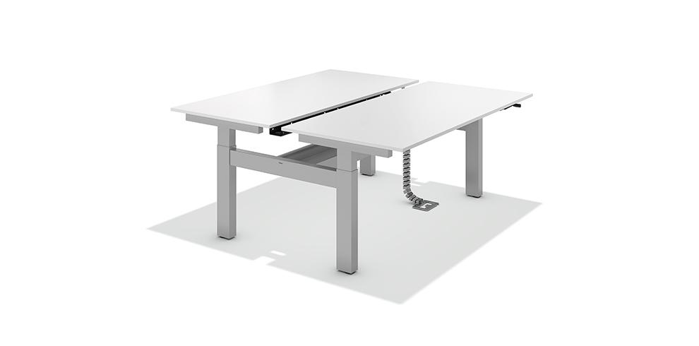 Twin table bene poste de travail r glable en hauteur - Table de travail reglable en hauteur ...